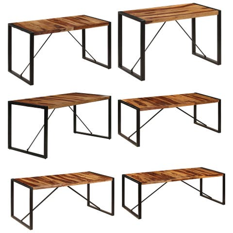 vidaXL Dining Table Solid Sheesham Wood multi sizes