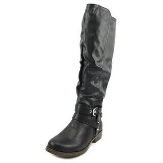 XOXO Martin Wide Calf Women Round Toe Synthetic Knee High Boot