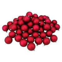 "60ct Magenta Pink Shatterproof Matte Christmas Ball Ornaments 2.5"" (60mm)"