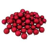 "60ct Magenta Pink Shatterproof Matte Christmas Ball Ornaments 2.5"" (60mm)"