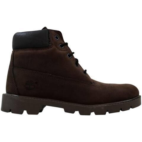 "Timberland Boys 6"" Boot Dark Brown Nubuck 10974 Grade-School"