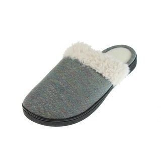 Isotoner Womens French Terry Sherpa Clog Slippers