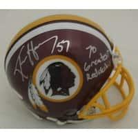 Ken Harvey Autographed Washington Redskins Mini Helmet 70 Greatest Redskins JSA