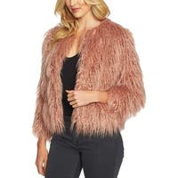 1. State Pink Women's Size Small S Faux Fur Open Front Jacket