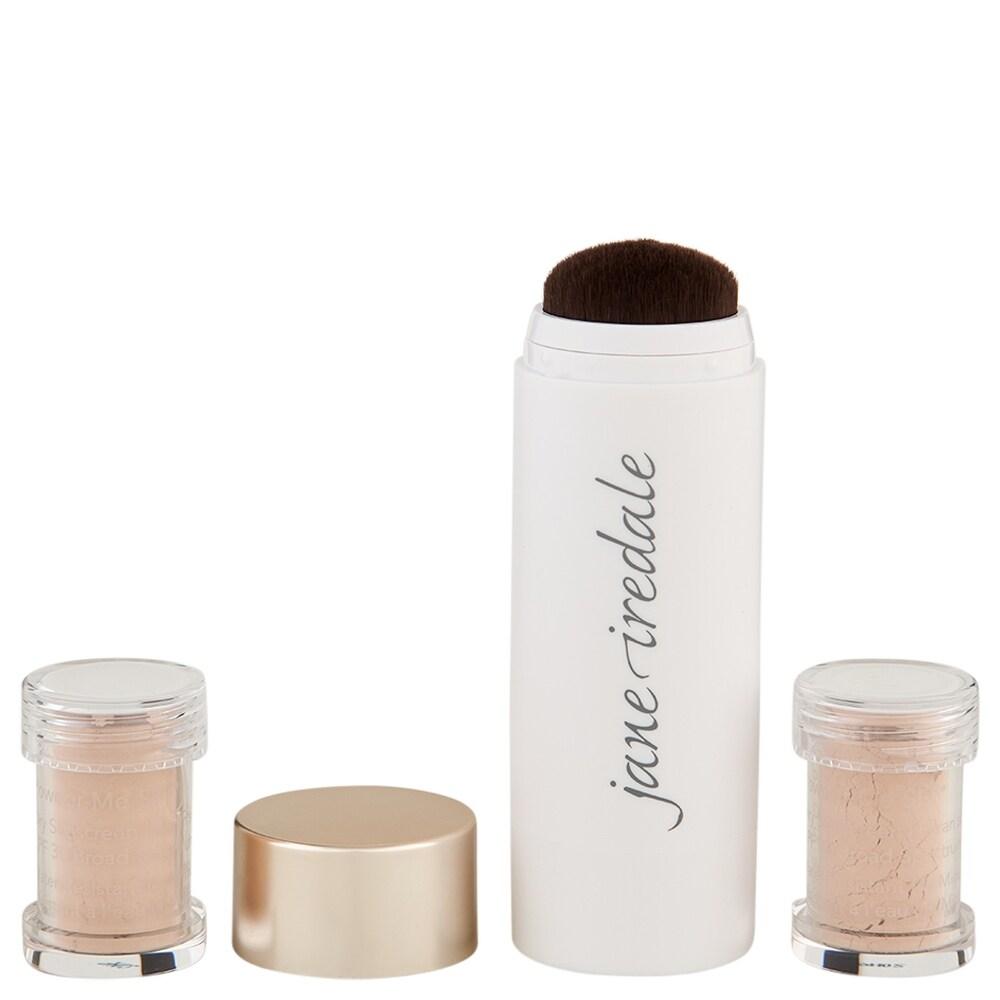 Jane Iredale Powder-Me SPF 30 Dry Sunscreen Refillable Brush 0.18 oz Nude (White - Facial Sunscreen)