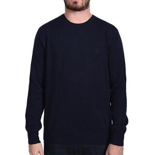 Valentino Men's Crew Neck Sweater Dark Navy Blue