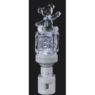 "6.5"" Icy Crystal LED Lighted Baby Block Teddy Bear Night Light"