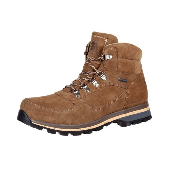 Rocky Outdoor Boots Mens Vibram Outsole Suede Leather Brown