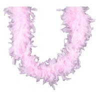 Set of 3 Pink Embellished Fluffy Party Boas - 2 Yards