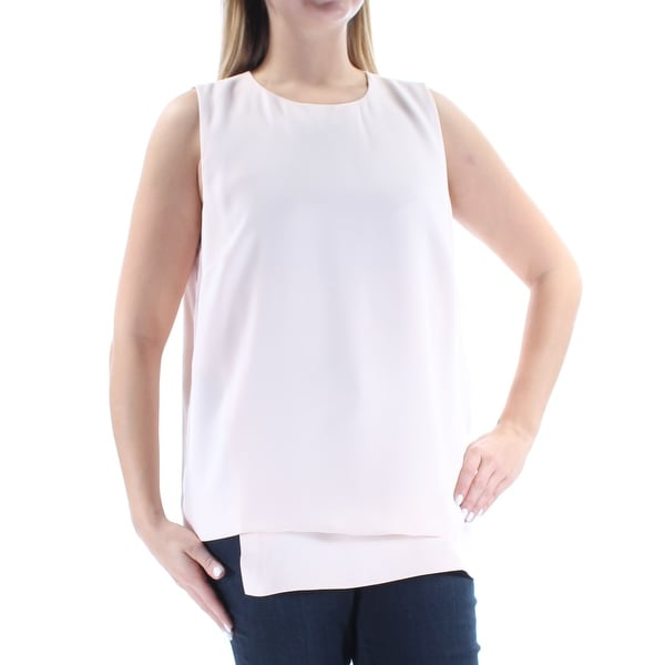 ef95deac45ba7 Shop ALFANI Womens Pink Layered Sleeveless Crew Neck Top Size  14 - On Sale  - Free Shipping On Orders Over  45 - Overstock - 21242820
