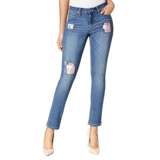 Earl Jeans Patched Skinny Jeans Pants