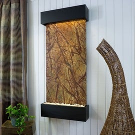 BluWorld Classic Quarry Vertical Indoor Wall Fountain - Rainforest Brown Marble