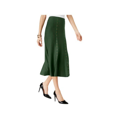 NY Collection Womens A-Line Skirt Sweater Studded