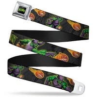 Marvel Universe Green Goblin Full Color Black Yellow Green Goblin Action Seatbelt Belt