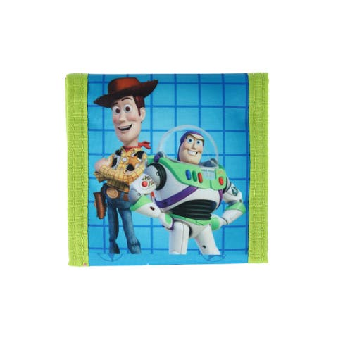 Disney Kid's Toy Story Trifold Wallet with Hook and Loop Closure