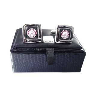 NCAA Alabama Crimson Tide Square Cufflinks Gift Box Set