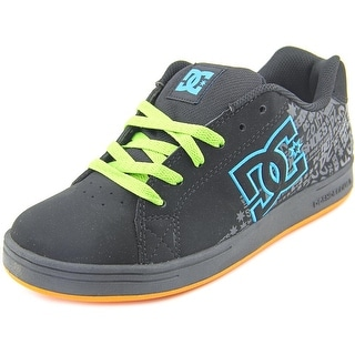 DC Shoes Character Youth Round Toe Leather Black Skate Shoe