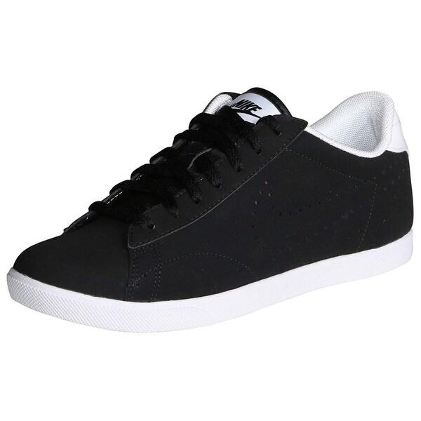 bdc6e4a66d8b8 Shop Nike Women s Racquette Leather Tennis Shoes-Black White - Free ...