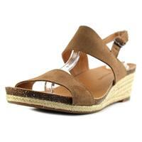Lucky Brand Jette Women  Open Toe Leather Tan Wedge Sandal