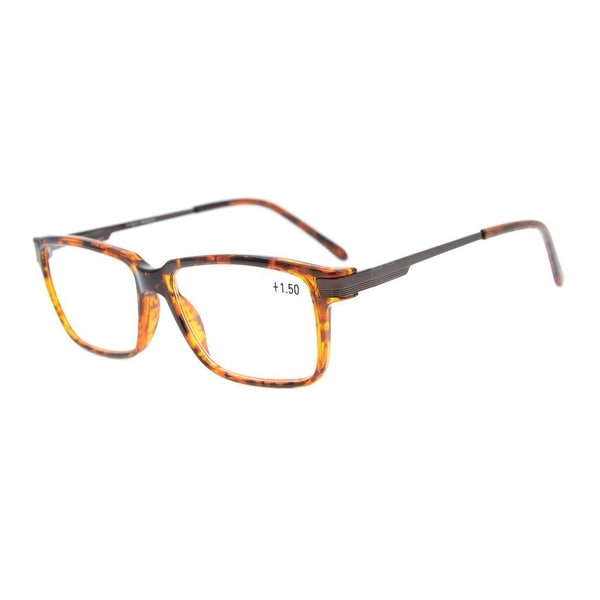 ce0d689dc3 Eyekepper Amber Tinted Lenses Quality TR90 Frame Classic Spring Hinges Reading  Glasses Tortoise +0.5