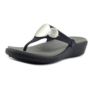 Crocs Sanrah  Women  Open Toe Synthetic Blue Thong Sandal