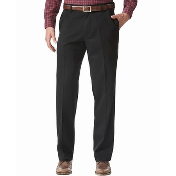 Dockers Mens Pants Black Size 40x30 Khakis Flat Front Relaxed Stretch. Opens flyout.