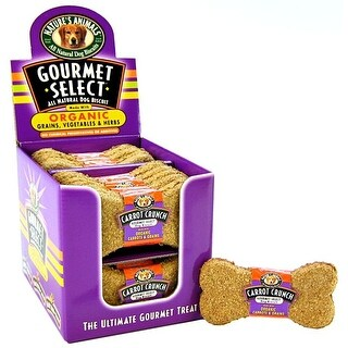 Natures Animals Gourmet Select Biscuits - Carrot Crunch 24 count