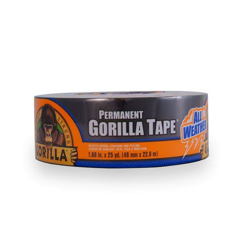 "Gorilla 6009002 All Weather Permanent Tape, 1.88"" x 25 Yd"