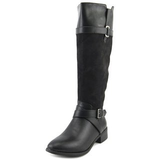 Rampage Imagine Women Round Toe Synthetic Black Knee High Boot