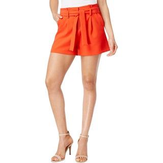 XOXO Womens Juniors Dress Shorts Pleated Ruffled - L