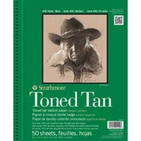 """Tan 50 Sheets - Strathmore Toned Sketch Spiral Paper Pad 9""""X12"""""""