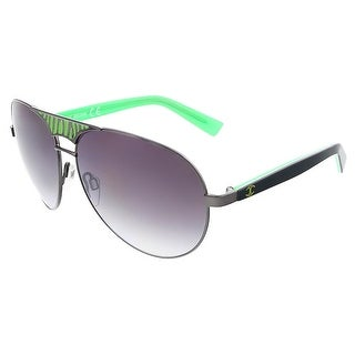 Just Cavalli JC 510 20B Black/Green Teardrop Aviator Sunglasses - 60-13-130