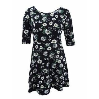 Fox & Royal Women's Trendy Plus Size Floral-Print Dress - daisies