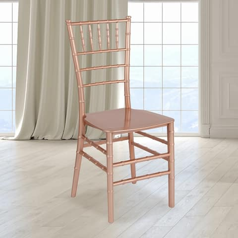 """Stackable Resin Chiavari Chair - Banquet and Event Furniture - 15""""W x 18.75""""D x 35""""H"""