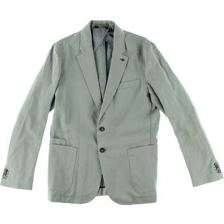 Stone Rose Mens Linen Blend Lightweight Two-Button Blazer - 42R