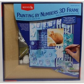 DIY Baby Boy Painting By Numbers 3D Blue Picture Frame