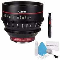 Canon CN-E 85mm T1.3 L F Cine Lens (International Model) + Deluxe Cleaning Kit Bundle (AF6CANCNE8513LFB3)
