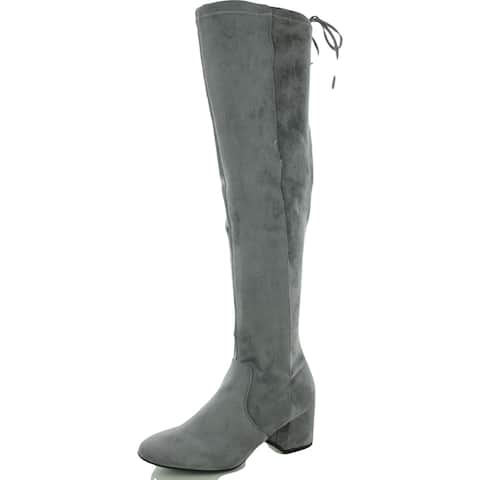 Sugar Womens SGROLLIE Over-The-Knee Boots Heels Round Toe