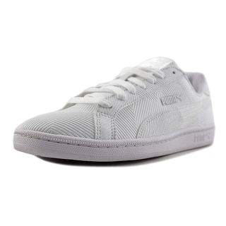 Puma Smash Deboss Round Toe Synthetic Sneakers