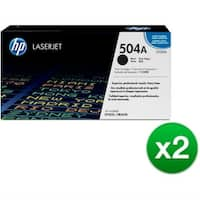 HP 504A Black Original LaserJet Toner Cartridge (CE250A)(2-Pack)