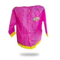 Shopkins Girls Rain Slicker Hooded Raincoat Large 6/7