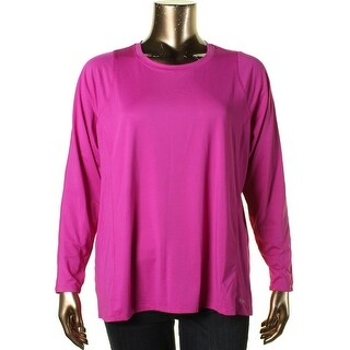 Calvin Klein Performance Womens Plus Quick Dry Long Sleeve Pullover Top - 2X