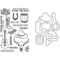 Hero Arts Clear Stamp & Die Combo-Cowboy Life
