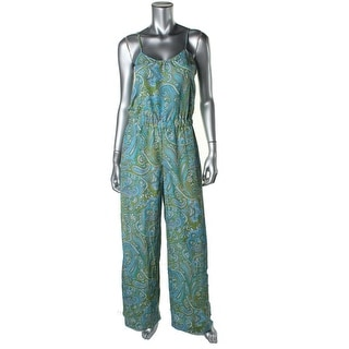 MICHAEL Michael Kors Womens Jumpsuit Paisley Sleeveless