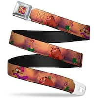 Timon Hula Pose Full Color Timon & Pumba The Hula Song Poses Webbing Seatbelt Belt