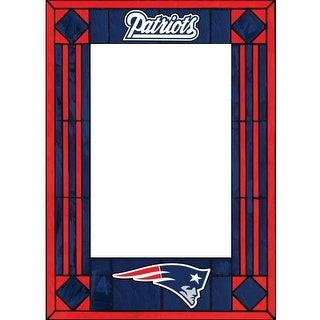 New England Patriots Art Glass Vertical Picture Frame - multi