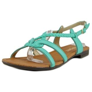 Report Graden Women Open-Toe Synthetic Green Slingback Heel