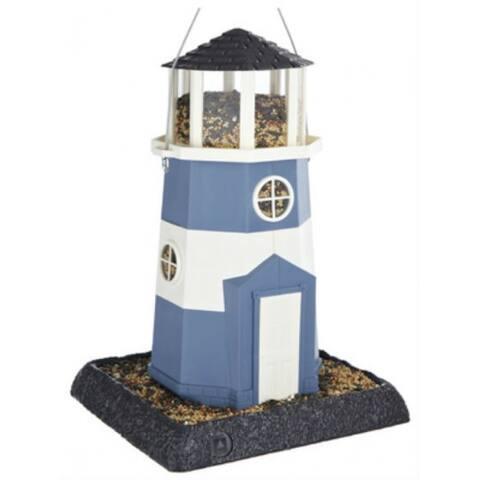 North States⢠9076 Large Nautical Blue/White Lighthouse Birdfeeder