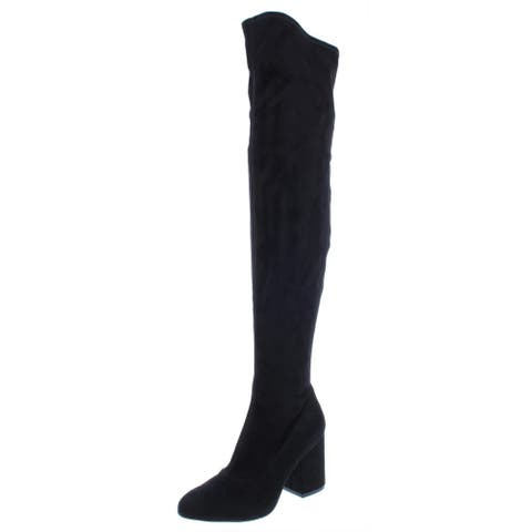 Marc Fisher Womens Praye Over-The-Knee Boots Faux Suede Round Toe