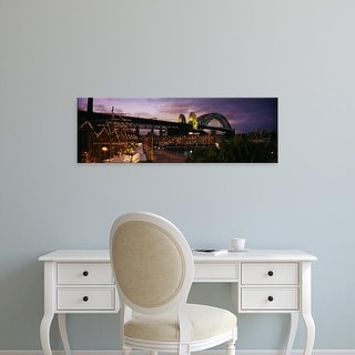 Easy Art Prints Panoramic Image 'Bridge lit up, Sydney Harbor Bridge, Sydney, New South Wales, Australia' Canvas Art
